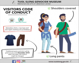 New Dress-code regulations to enter S-21 Tuol Sleng Genocidal Museum in Phnom Penh