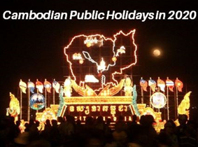 """2020 Cambodian Public Holidays"" by All Dreams Cambodia"